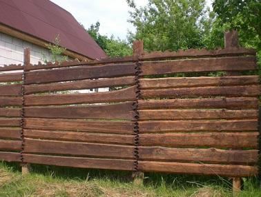 Фото деревянного забора 3