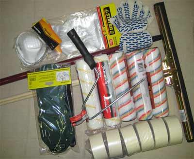 Инструменты для покраски бетонного пола