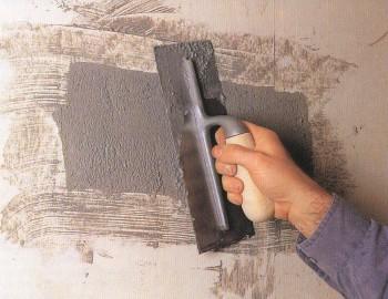 Заделка дыры в бетонной стене