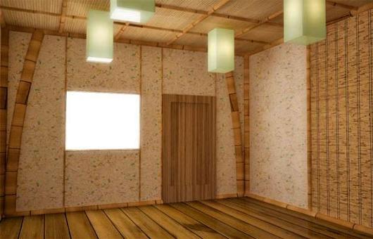 Растительные элементы на стеновом и потолочном покрытиях