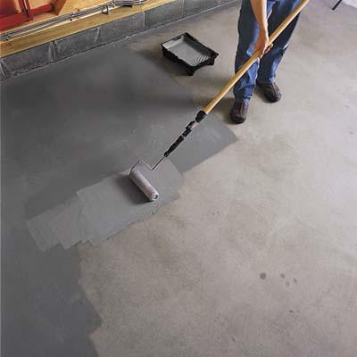 Покраска бетонного пола своими руками