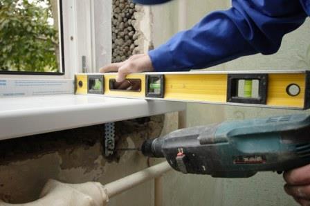 Подготовка к установке окна ПВХ