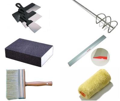 Инструменты для шпаклевания потолка своими руками